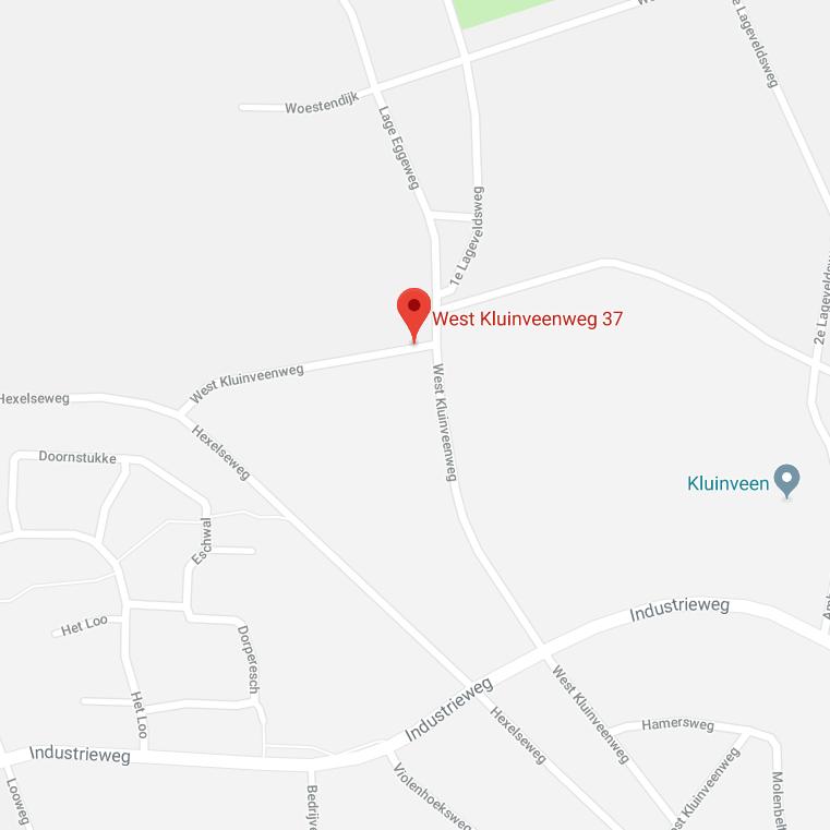Kaart van Rijssensestraat 40 in Wierden, Locatie van Van Keulen Classic Cars